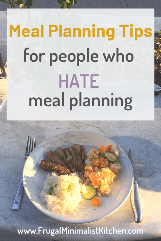 meal planning tips for people who hate meal planning