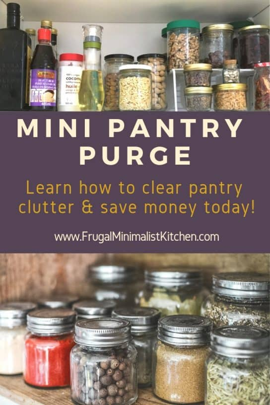mini pantry purge how to clear clutter jars & bottles