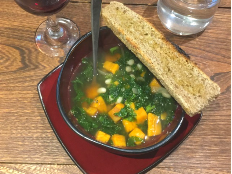 eat soup and bread to eat healthier on a budget