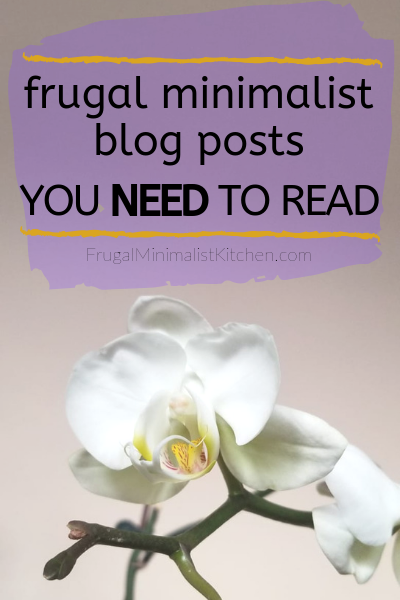 orchids and text: frugal minimalist blog posts you need to read