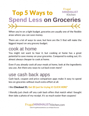 Free download ways to save money on groceries
