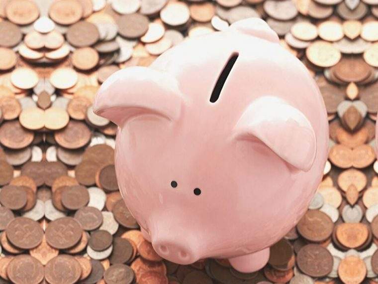 piggy bank and coins cheap vs frugal