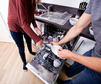 get help to load the dishwasher