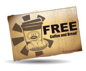 free coffee and bread clip art