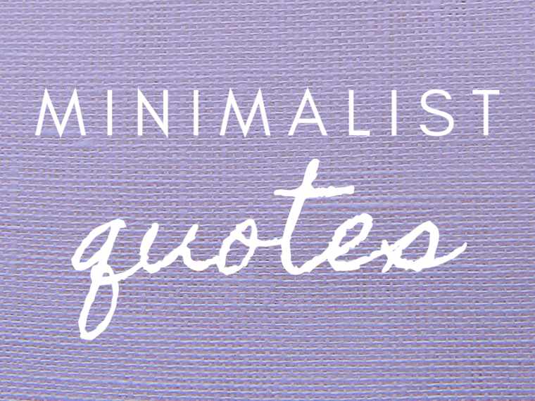 minimalist quotes purple linen background