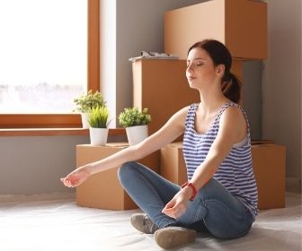 get in the right mindset to declutter