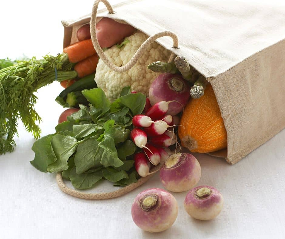 bag of long storage veggies