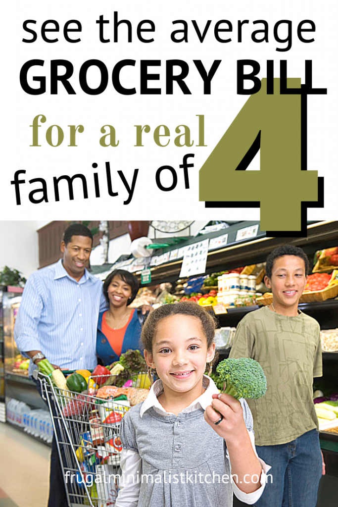 see the average grocery bill for a real family of 4