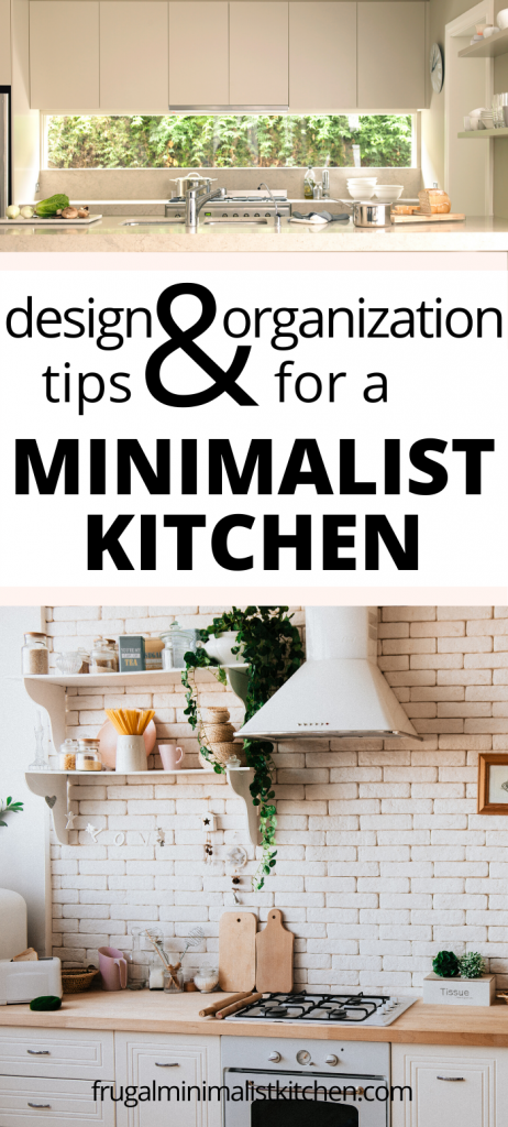 design & organization tips for a minimalist kitchen
