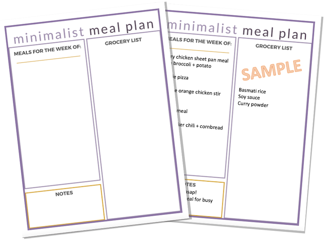 3 Reasons Why You Need a Minimalist Meal Plan!
