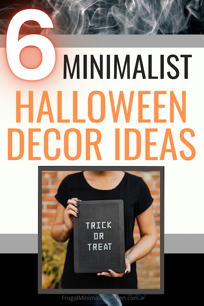 halloween letterboard icons and other minimalist halloween decor ideas woman holding letterboard that says trick or treat